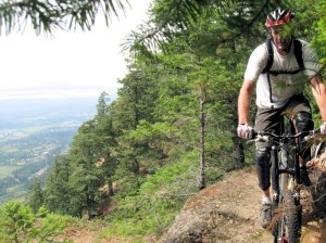 Bill Kuzmuk rides the ridge
