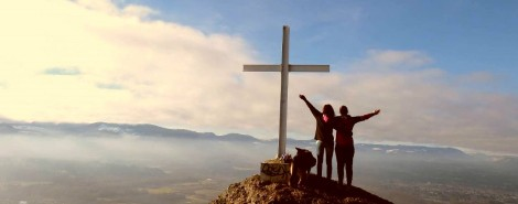Tiara and Victoria at the Cross. Photo: Tiara Gibson