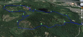 Example of a typical Day mapping on Mt Richards after work. There were a lot of days like this.